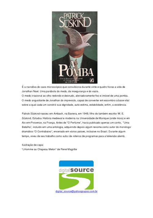 Patrick Süskind - A Pomba