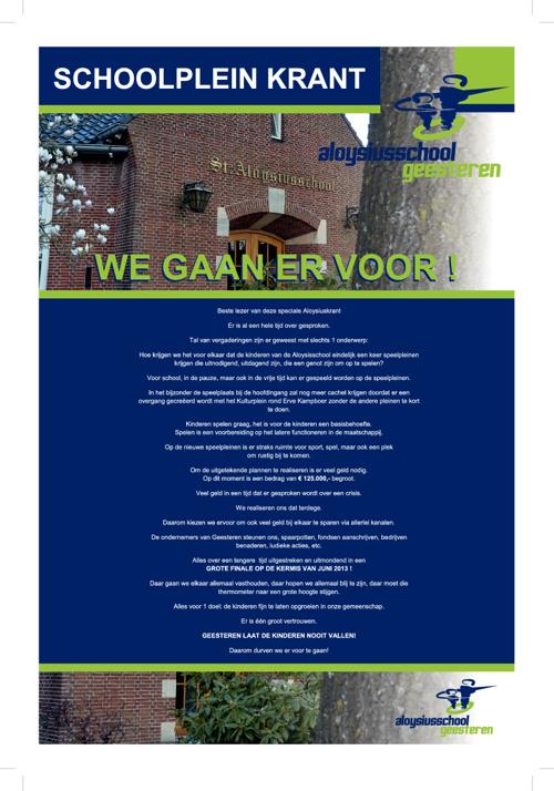 Schoolpleinkrant Aloysiusschool