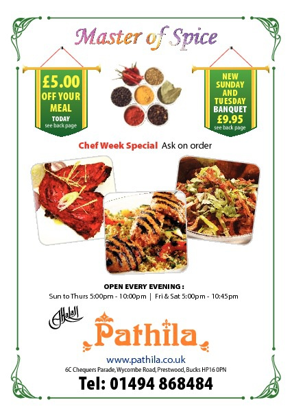 Pathila Menu