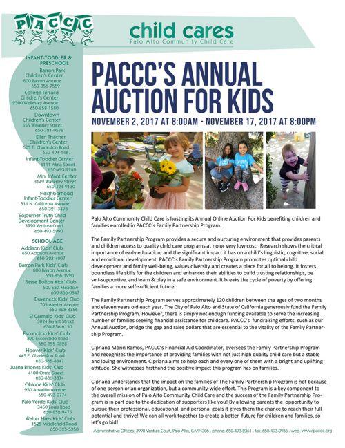 2017 Auction Newsletter