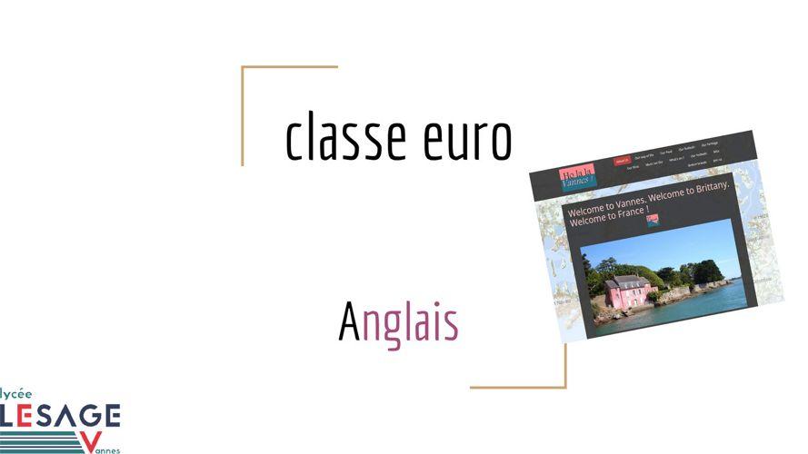Classe euro/Anglais au lycée Lesage de Vannes