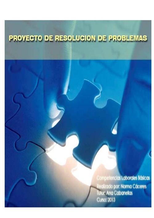 proyecto de resolucion de problemas