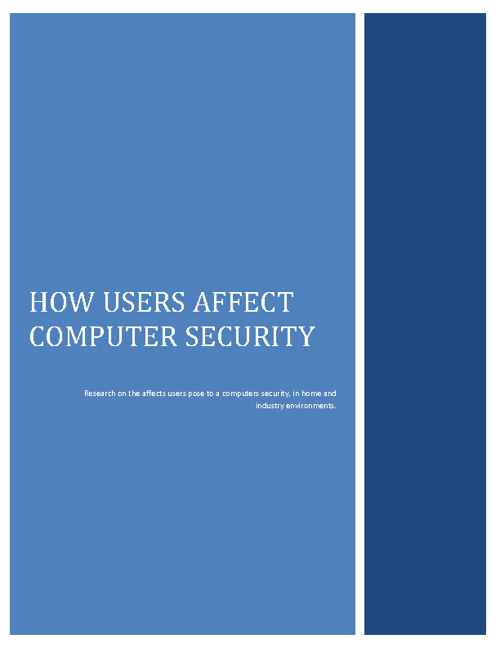 How users affect computer security