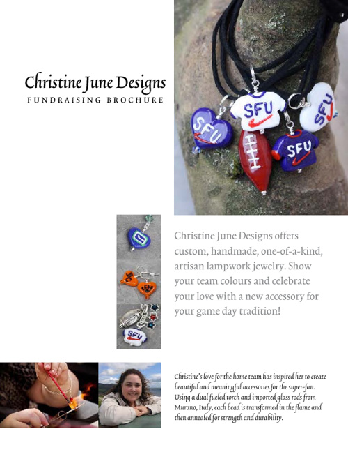 2012 SFU Clan Football Jewelry Fundraiser Catalog