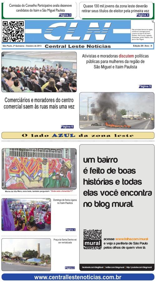 EDIÇÃO 029 - 1ª QUINZ OUTUBRO/2013 - JORNAL CLN