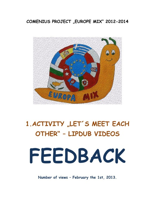 Lipdub video feedback