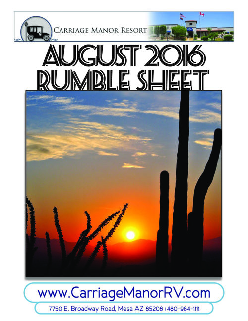 August 2016 Rumble Sheet