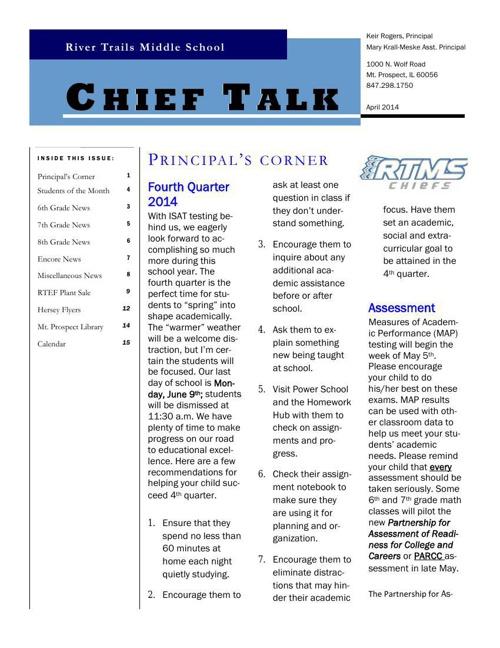 April Chieftalk 2014