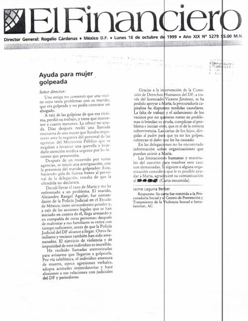 Articulo del Periodico El Financiero