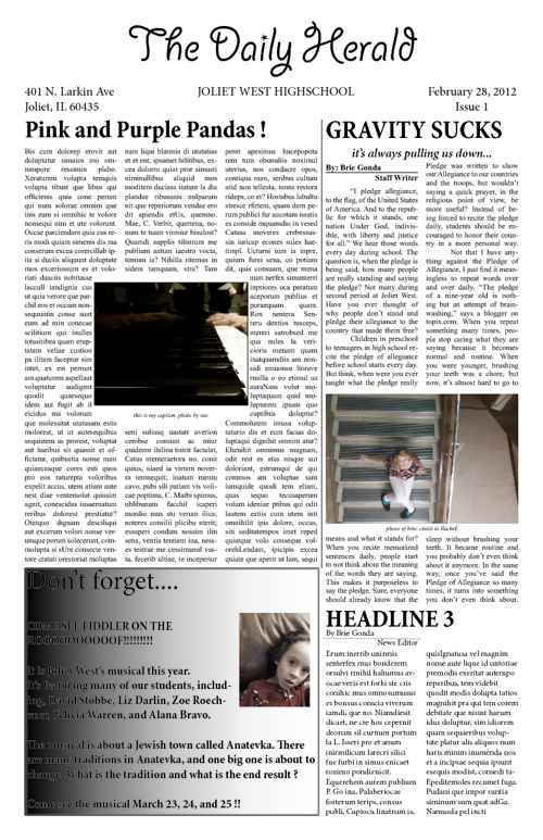 My Practice Newspaper