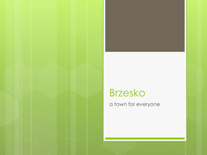 Brzesko - prezentacja na potrzeby eTwinning