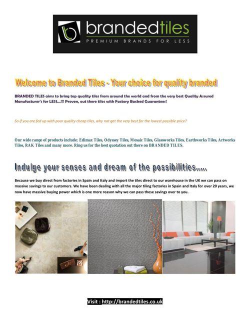 Branded Tiles – Premium Brands For Less