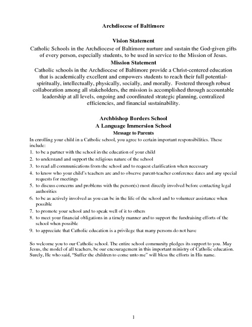 2011 Handbook - Archbishop Borders School