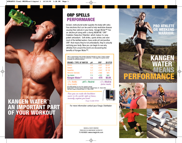 Athletes On Kangen Water® / Alkaline Water.