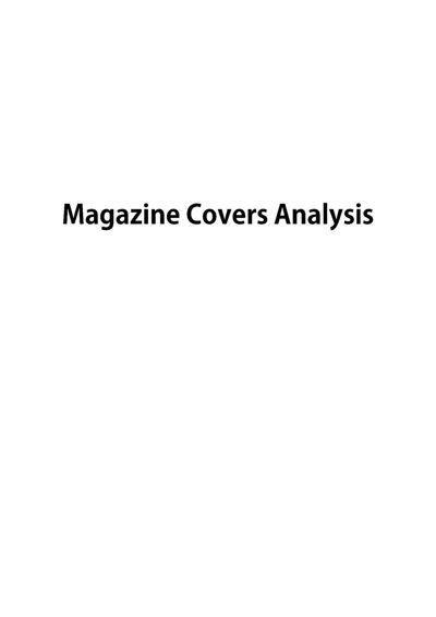 Magazine Covers Analysis