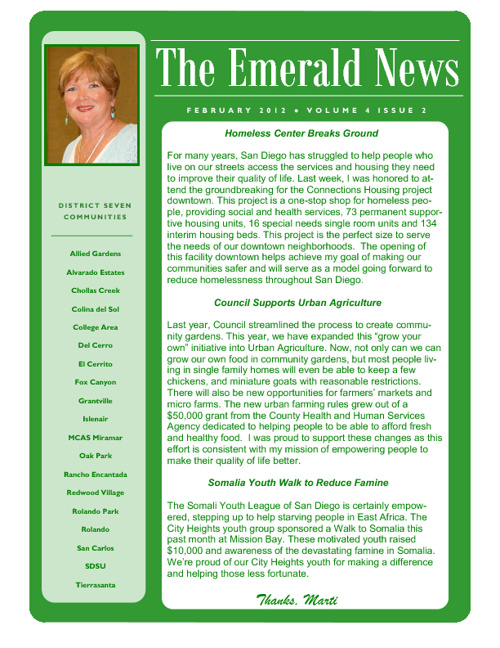 The Emerald News: Volume 4, Issue 2 (February 2012)