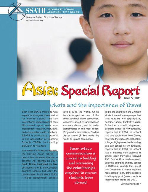 Asia: Special Report, 2011