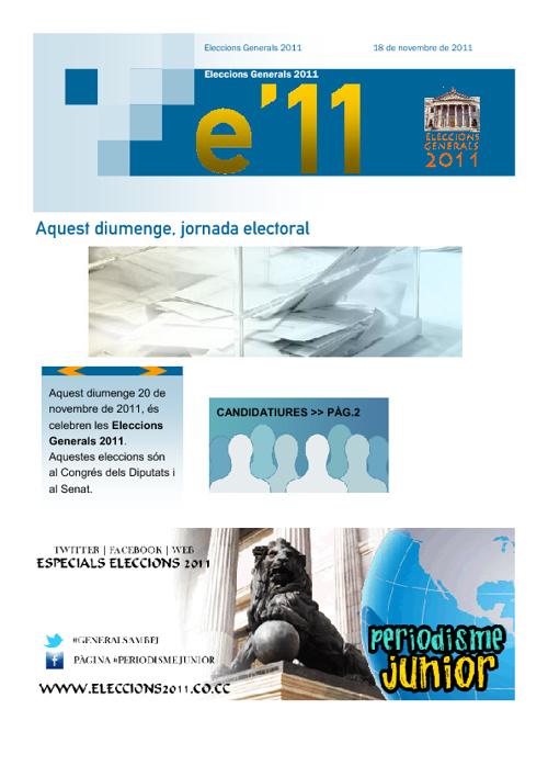 Revista Eleccions Generals 2011
