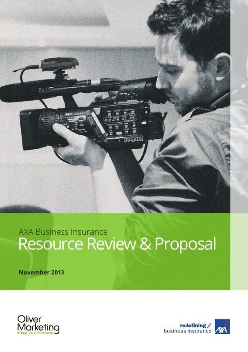 AXA Business Insurance Resource Proposal - November 2013