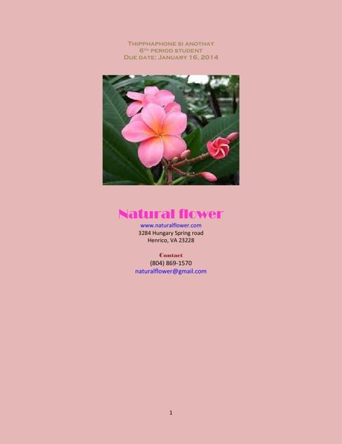 Copy of Natural flower information