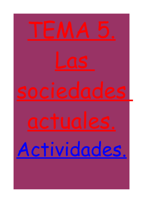 Actividades TEMA 5 sociales