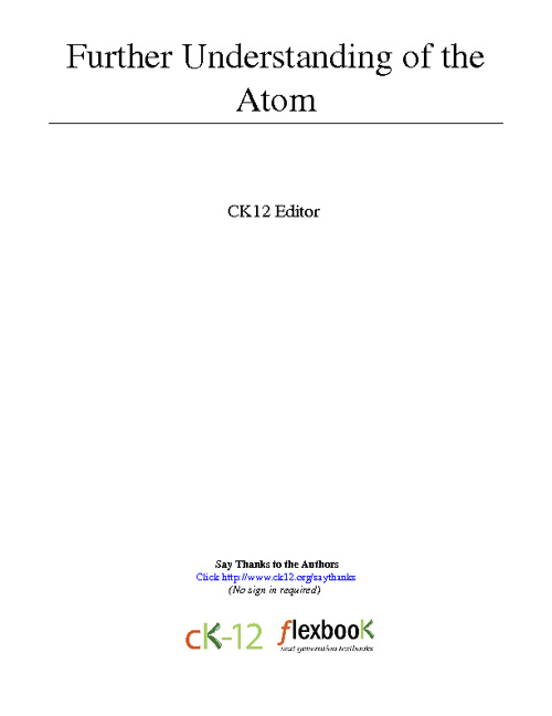 Atomic Theory Part2