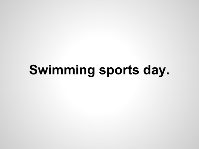 Swimming sports Day