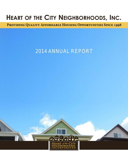 Heart of the City Neighborhoods, Inc. 2014 Annual Report