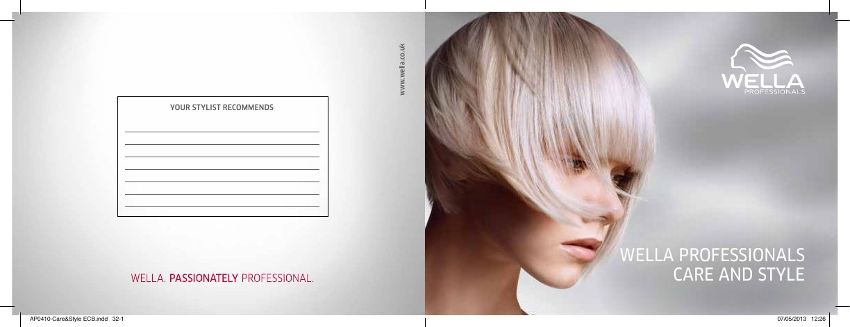 Wella Products Booklet