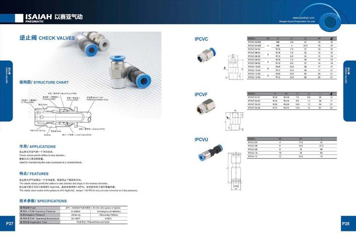 Isaiah check valves