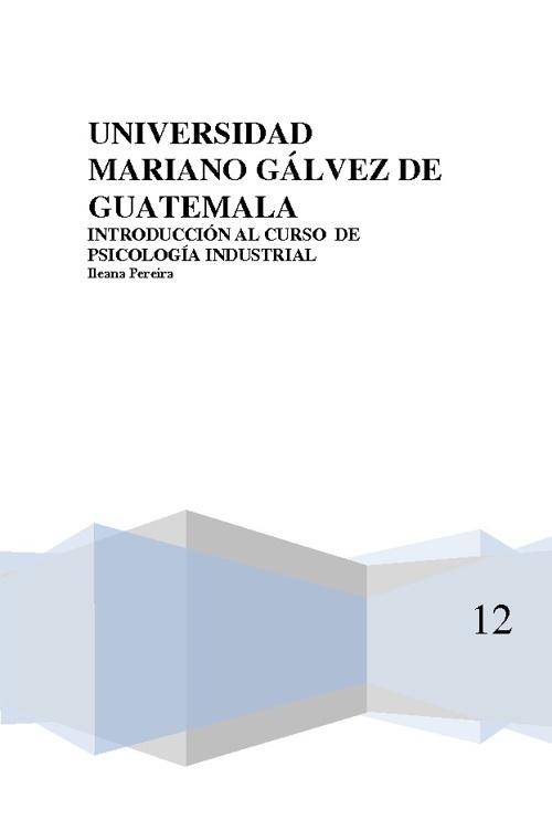 INTRODUCCION AL CURSO DE PSICOLOGÍA INDUSTRIAL