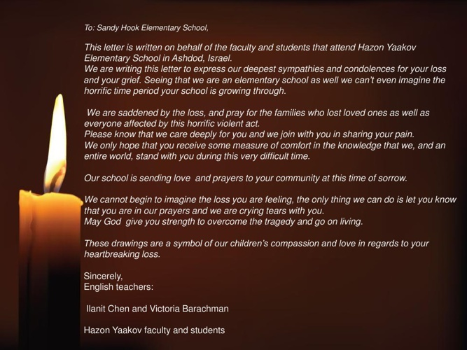 Sandy Hook School - You are in our Hearts !
