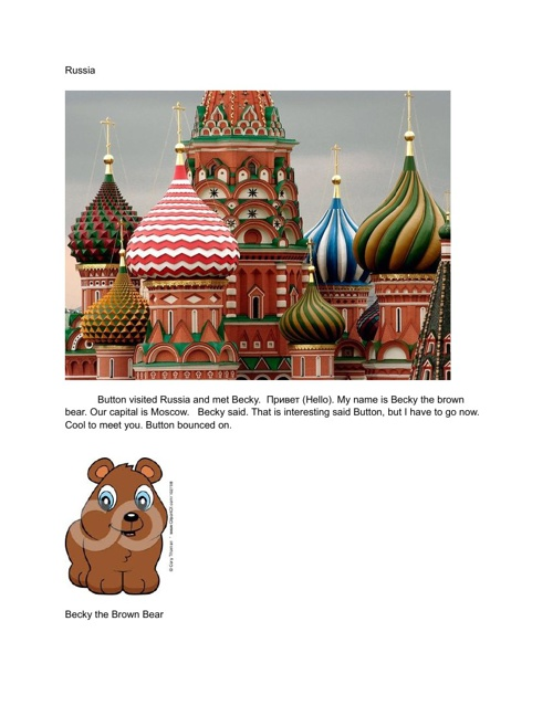 Button the Bear Bounces Around the World