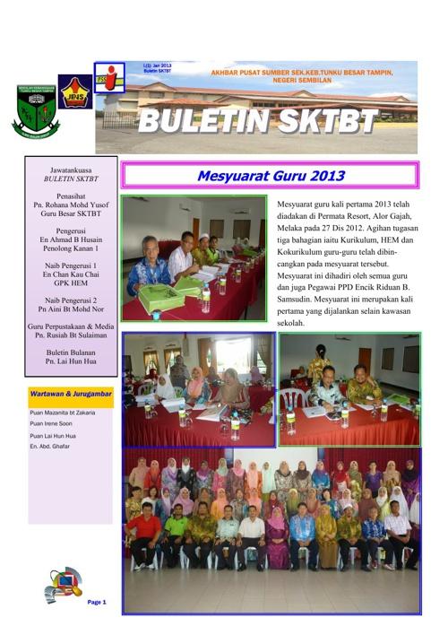 Buletin SK Tungku Besar Tampin