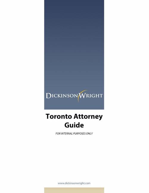 Toronto Attorney Guide 7.14