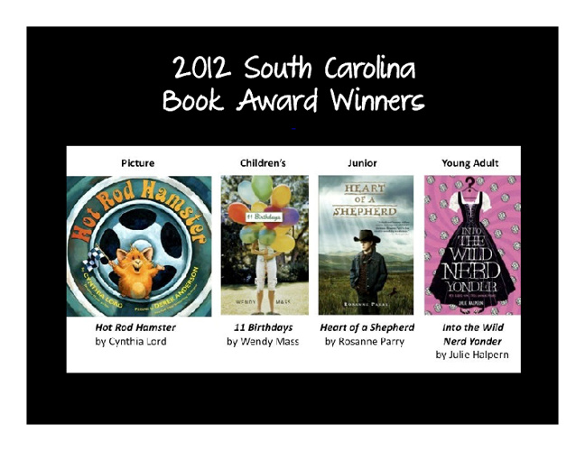 South Carolina Children's Book Award Nominees Part I