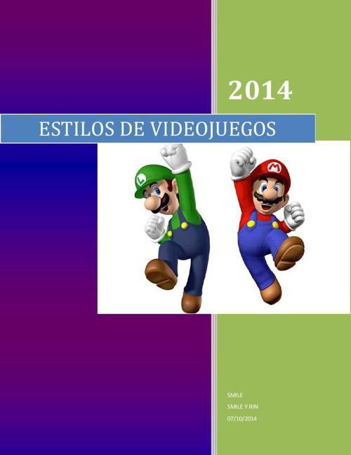 ESTILOS_DE_VIDEOJUEGOS