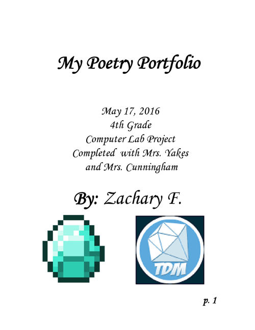 Poetry Portfolio, Zachary F.
