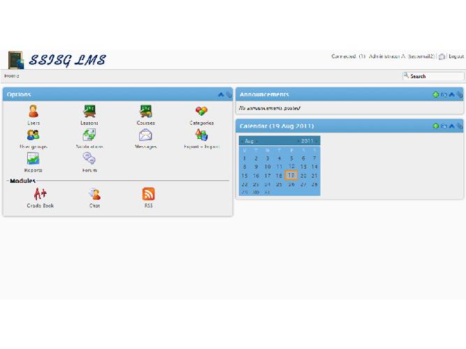 Screenshots of SSISG LMS for OMOMCS