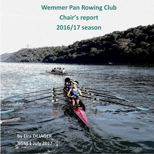 Wemmer Pan Rowing Club Chair report 2016-17