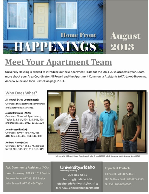 Home Front Happenings: August 2013