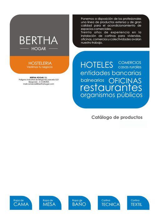 Catalogo Hosteleria Bertha Hogar
