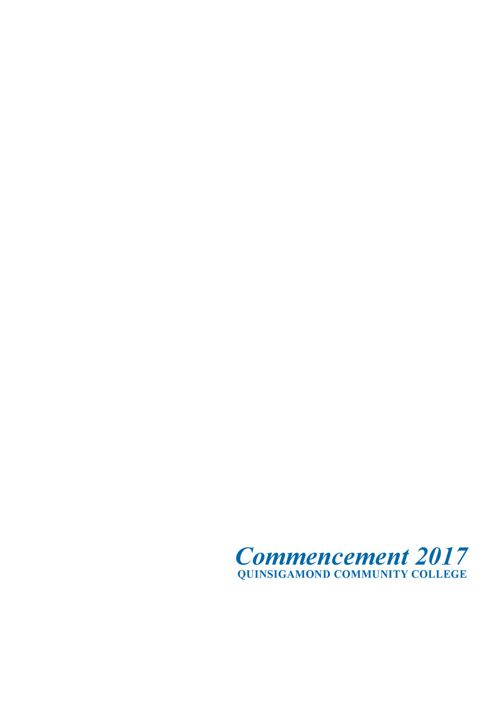 commencement program 2017