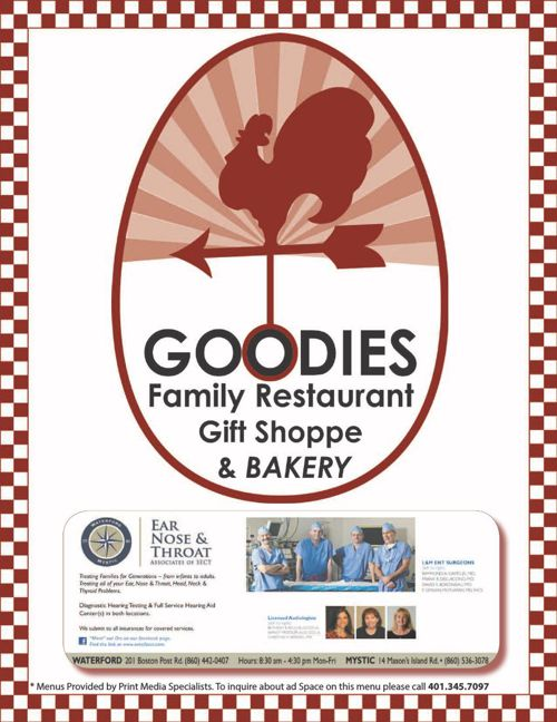 Copy of Goodies Family Restaurant and Bakery Menu
