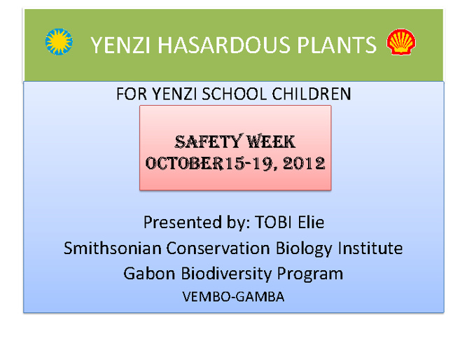 Yenzi Hazardous Plants