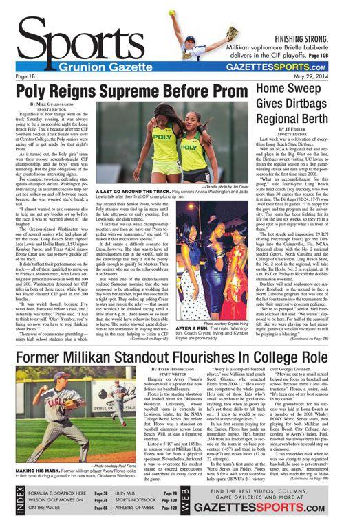 Gazette Sports   May 29, 2014
