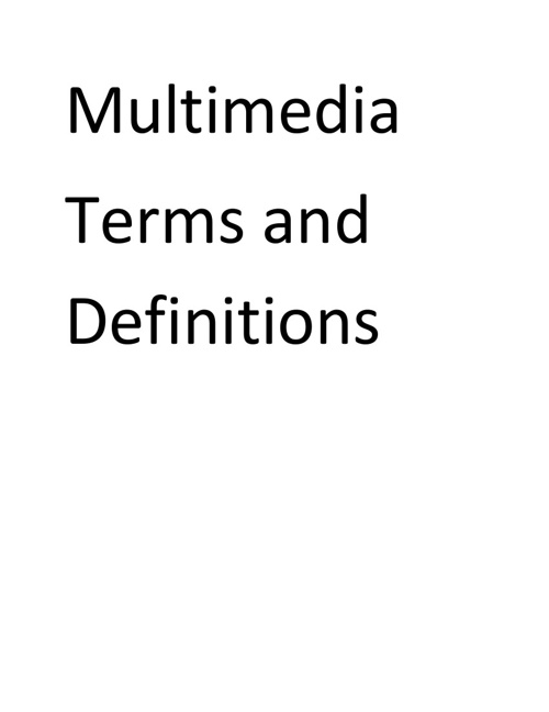 3.01 Vocabulary Terms