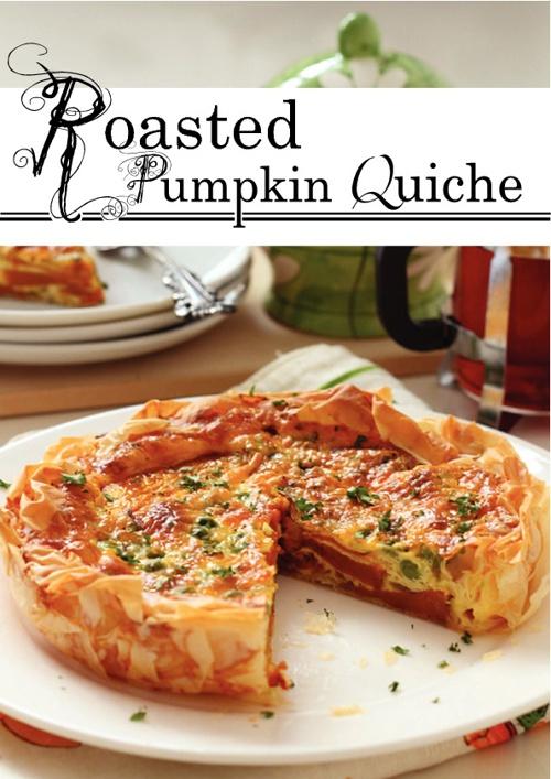 Roasted Pumpkin Quiche