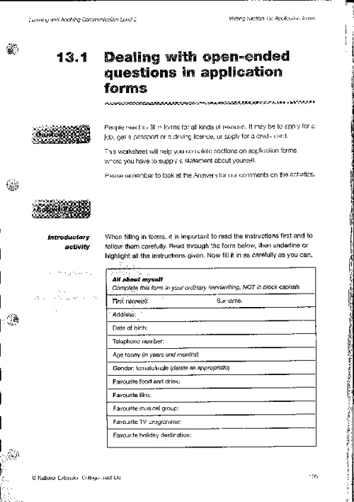 Copy of Application Forms