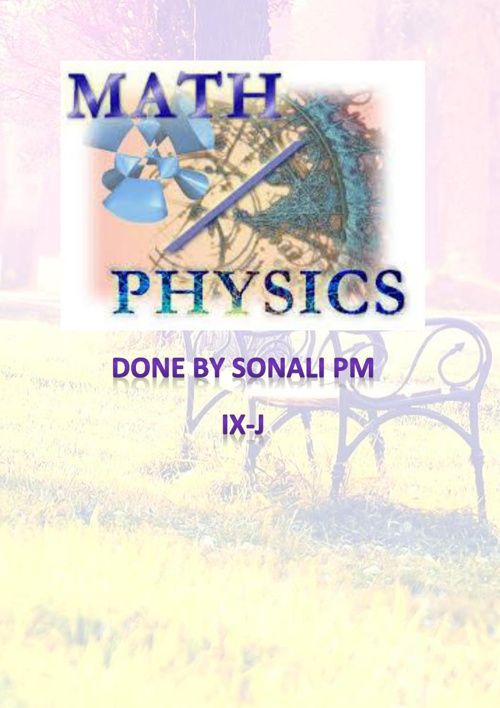 Physics and Maths Integrated Project -Updated